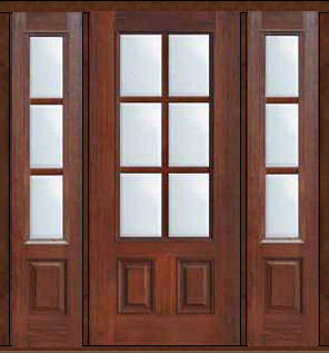 Prehung french side lights door 80 fiberglass 3 4 lite 6 for Fiberglass french patio doors