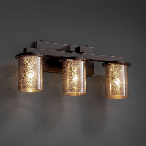 Dark Bronze Vanity Lights : Fusion Dakota Three-Light Dark Bronze Straight-Bar Bath Fixture - Contemporary - Bathroom Vanity ...