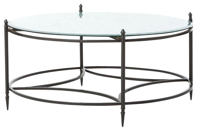 Belmont Elisha Round Mirrored Coffee Table Contemporary Coffee Tables By Dart Decor