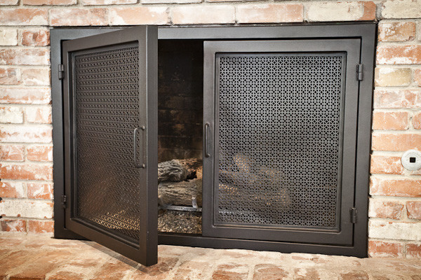 Perf Fireplace Doors - Contemporary - Fireplace Accessories - Austin - by The Manufactory LLC
