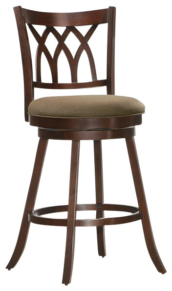 Tabib Collection Espresso Finish Wood Swivel Stool  : contemporary bar stools and counter stools from www.houzz.com size 352 x 596 jpeg 42kB