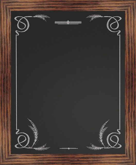 Border Chalkboard, Wheat - Rustic - Bulletin Boards And Chalkboards - by PTM IMAGES