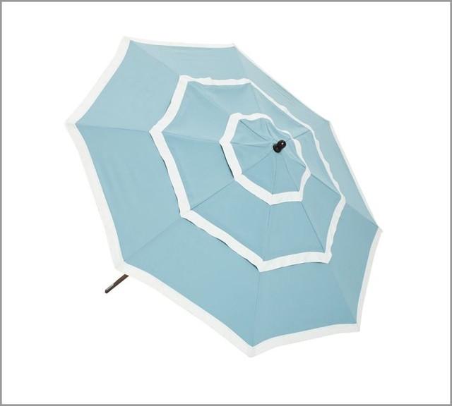 Three Tiered Round Market Umbrella Fresca Blue