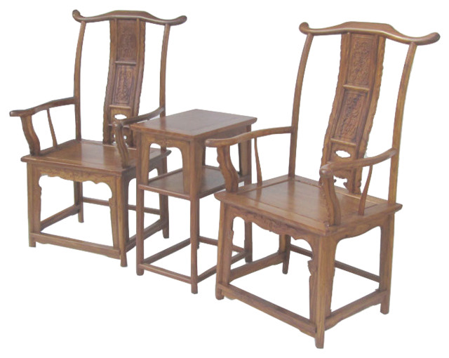 Pair chinese ming style huanghuali yoke back arm chair for Pair of chairs for living room