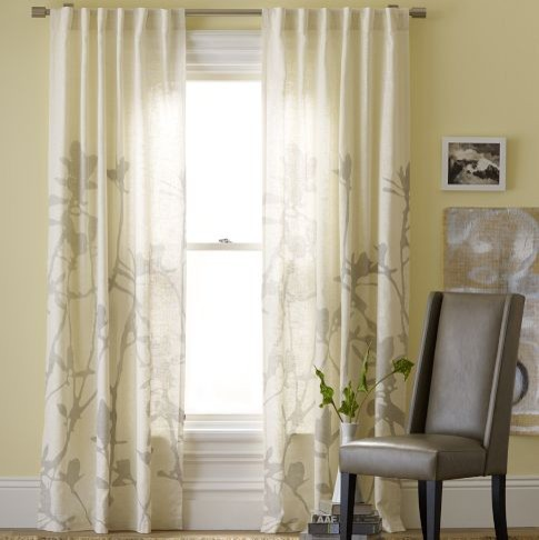 Bamboo printed window panel contemporary curtains by for West elm window treatments
