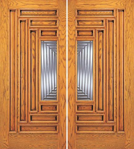 modern front double doors