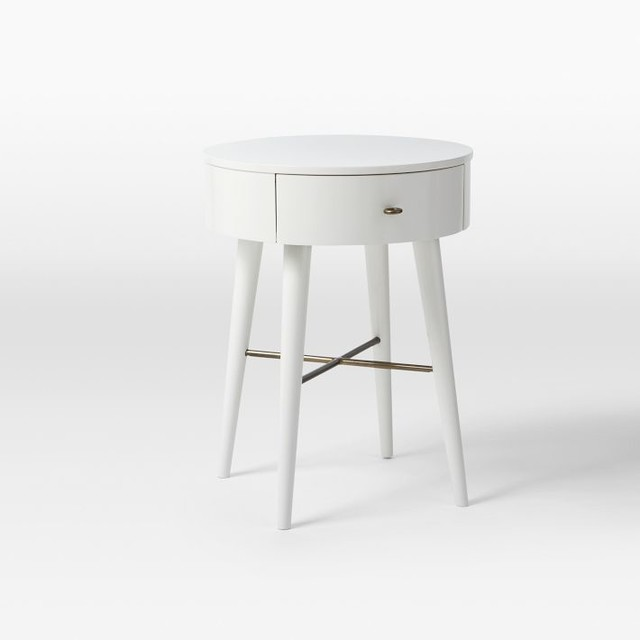 Penelope nightstand white small contemporary for White nightstand table