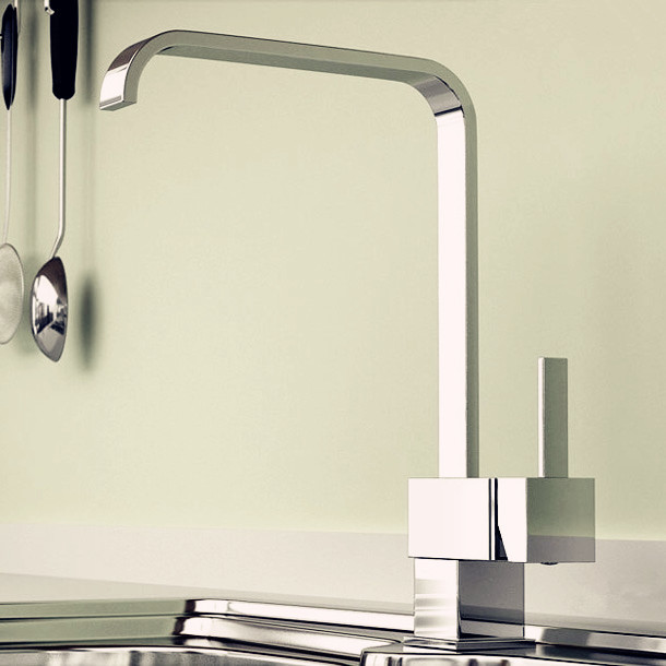 Classic Style Single Handle Kitchen Faucet Modern