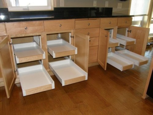 Kitchen Pull Out Shelves - Traditional - Kitchen - minneapolis - by Closets For Life