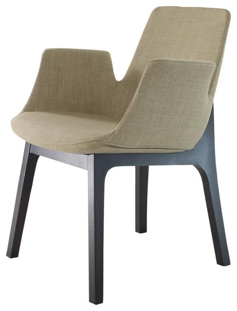 Bern Arm Chair Cappuccino Modern Armchairs Accent Chairs