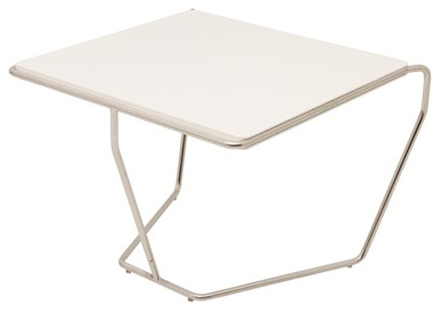 Table D 39 Appoint Design Blanc Pied Acier Contemporary Side Tables And Accent Tables By