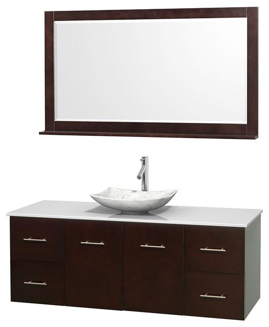 60 single bathroom vanity in espresso countertop 58