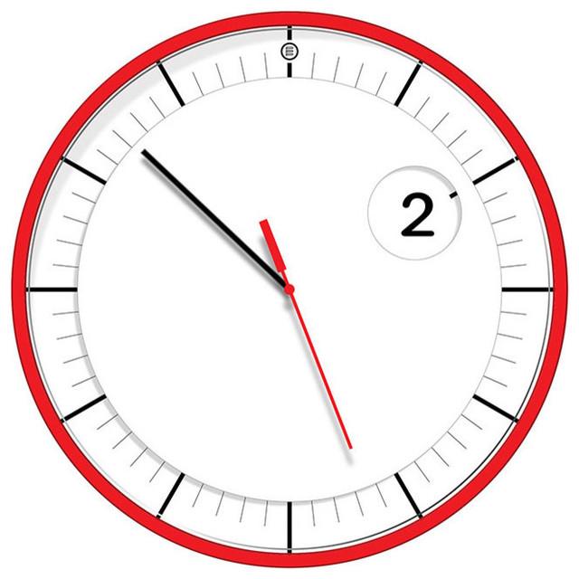 Rotating Disk Wall Clock - Contemporary - Wall Clocks - by ...