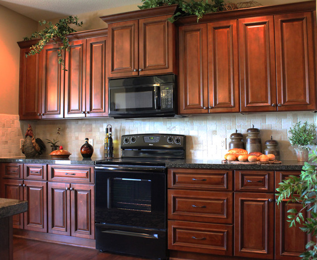 Brindleton maple kitchen cabinets traditional kansas for Kitchen cabinets 50 off