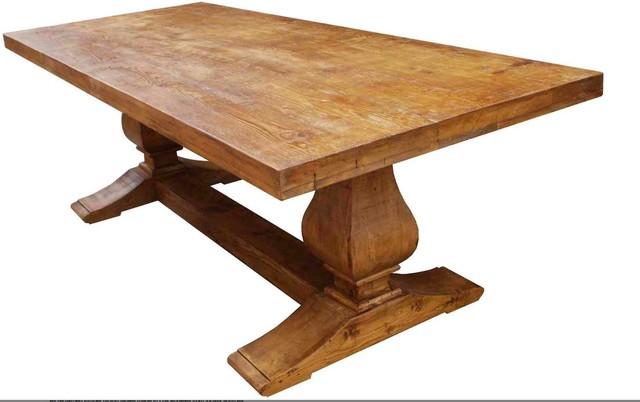 Custom Segovia Reclaimed Wood Trestle Dining Table