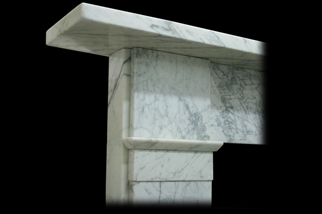 Early Victorian Carrara Marble Fireplace Surround Capital