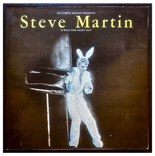 Glittered Vintage Steve Martin Wild and Crazy Guy Album - Eclectic - Artwork - by mmm designs
