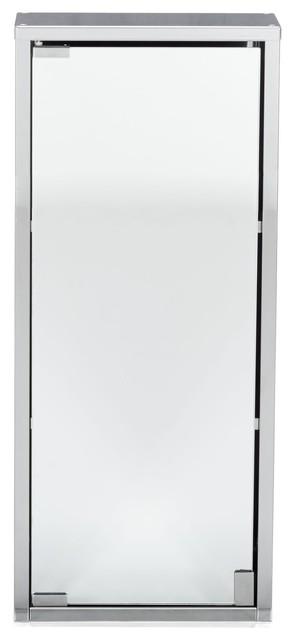 zoom armoirette de salle de bains 1porte miroir contemporain placard et tag re de salle de. Black Bedroom Furniture Sets. Home Design Ideas