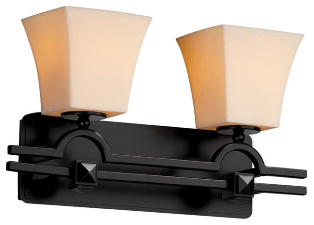 Candle Aria 2-Light Bathroom Vanity Light in Matte Black - Bathroom Vanity Lighting - by ...