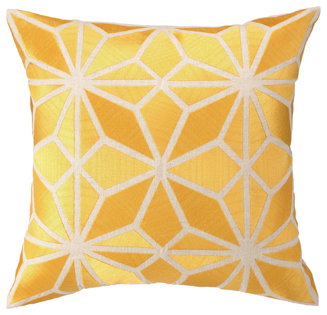 Decorative Pillows Trina Turk : Trina Turk Mojave Embroidered Pillow in Yellow - Modern - Decorative Pillows - by Rosenberry Rooms