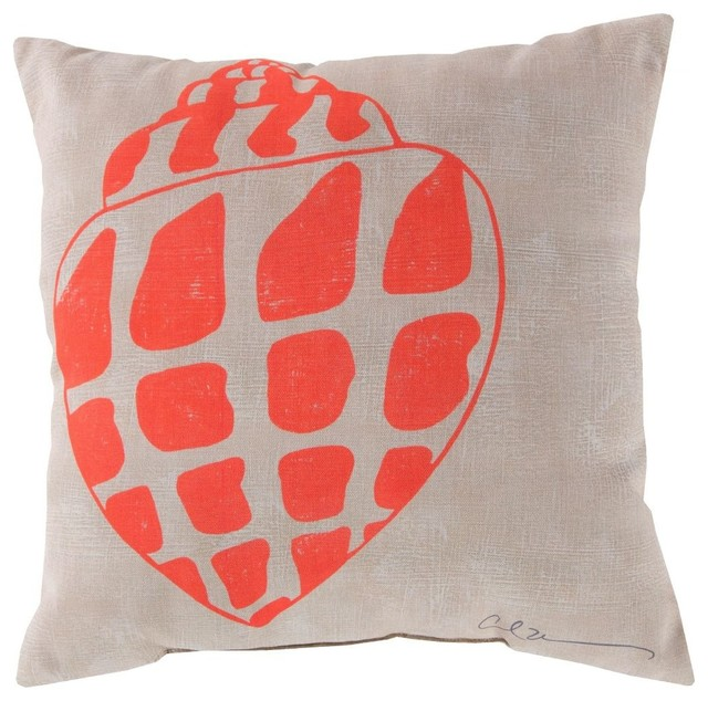 Contemporary Rain Square Pink-Neutral Decorative Pillow - Beach Style - Decorative Pillows - by ...