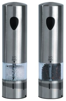 Peugeot elis rechargeable salt and pepper mill set contemporary salt and pepper shakers and - Novelty pepper mill ...
