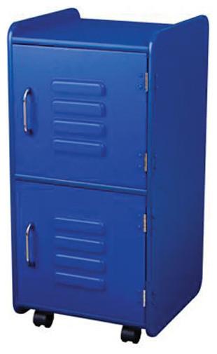 ... And Clothes Storage Medium Locker - Blue contemporary-storage-cabinets