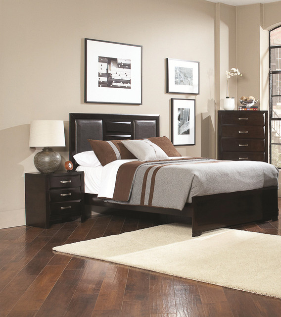 palmero 3 piece bedroom set contemporary bedroom