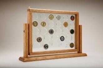 challenge coin display, Medium Swing Coin Display ...