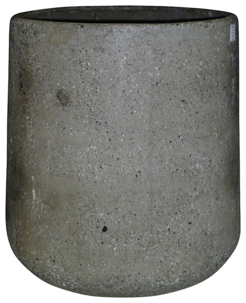 pot en ciment gris 51 cm modern pflanzk bel von. Black Bedroom Furniture Sets. Home Design Ideas