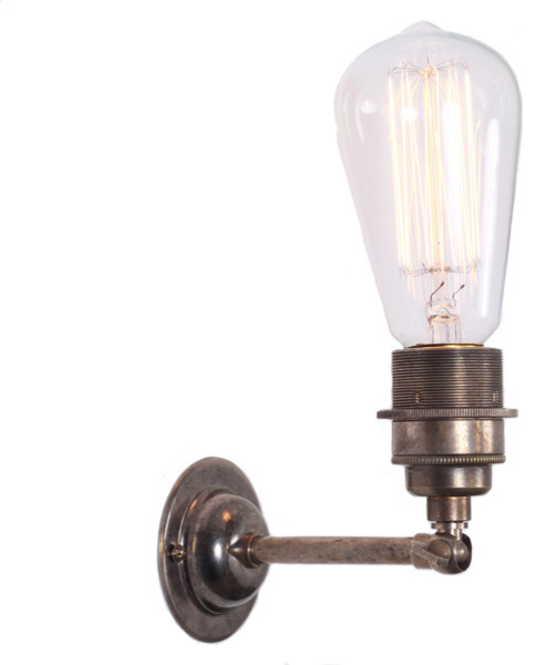 Lome Vintage Minimalist Wall Light - Industrial - Swing Arm & Reading Lights - other metro - by ...