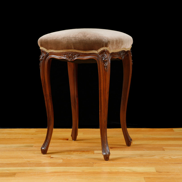 French Louis Xv Style Stool Midcentury Bar Stools And Counter Stools Miami By