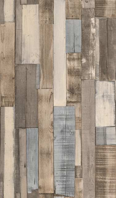 Weathered Soft Gray Vertical Slat Barnwood Wallpaper