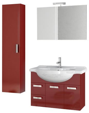 inch glossy red bathroom vanity set traditional bathroom vanities