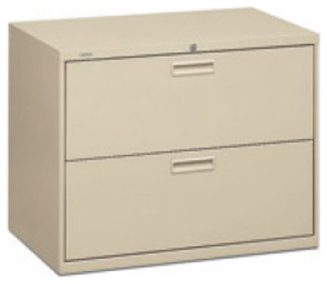 HON 500 Series 36 inch Wide 2 Drawer Lateral Filing Cabinet - HON582LL - Contemporary - Filing ...
