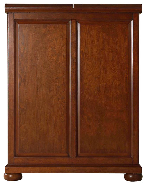 Alexandria Bar Cabinet in Cherry - Contemporary - Wine And ...