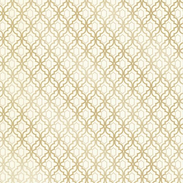 Modern Trellis Wallpaper: Alcazaba Gold Trellis Wallpaper Bolt