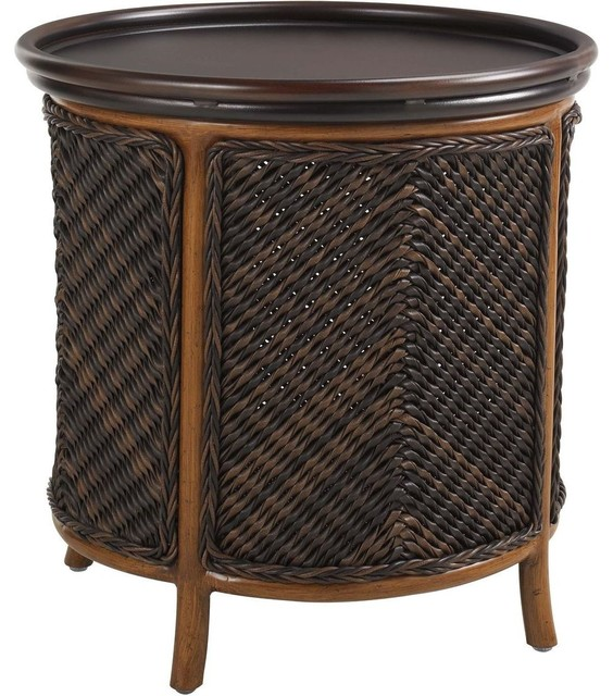 Tommy bahama island estate lanai tray end table tropical for Outdoor side tables ikea