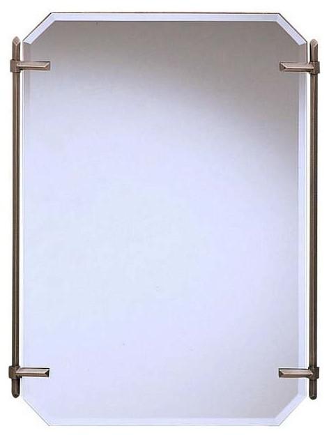 kichler polygon antique pewter mirror transitional