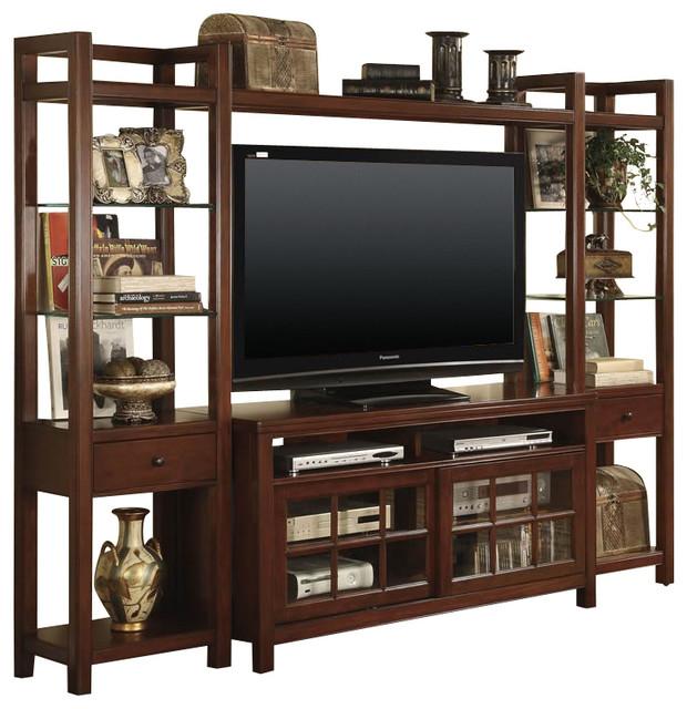 Riverside Furniture Avenue Wall Entertainment System Modern Media Storage