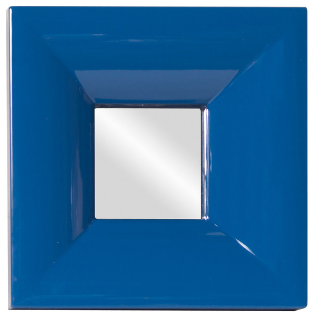 Candy Blue Mirror - Traditional - Makeup Mirrors - by ShopLadder