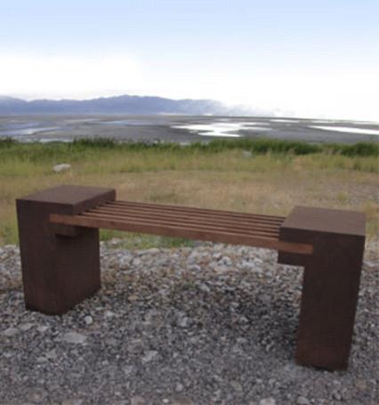Bridge Bench Contemporary Outdoor Benches Other