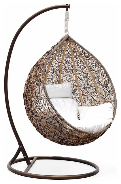trully outdoor wicker swing chair 2