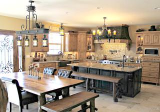 Private Residence Prescott Arizona Rustic Chandeliers