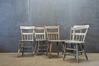 Belgium Primitive Farmhouse Chairs - Eclectic - Dining Chairs - by ...