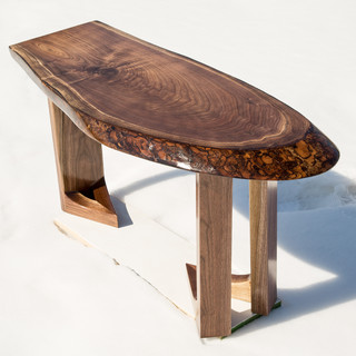 Handcrafted walnut condo coffee table modern coffee tables toronto by canadian woodcrafters Modern coffee table canada