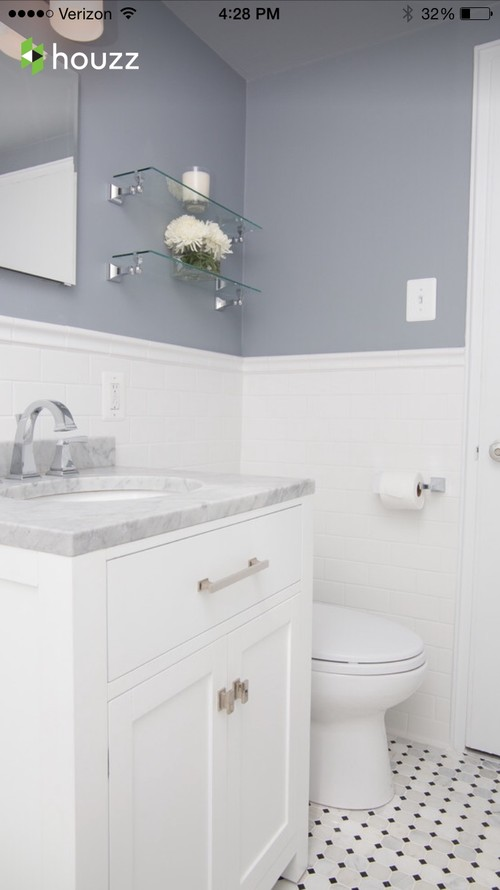 What Color Grout To Use With White Subway Tile And Marble In Bathroom