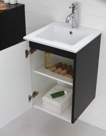 400mm black bathroom vanity aspen contemporary