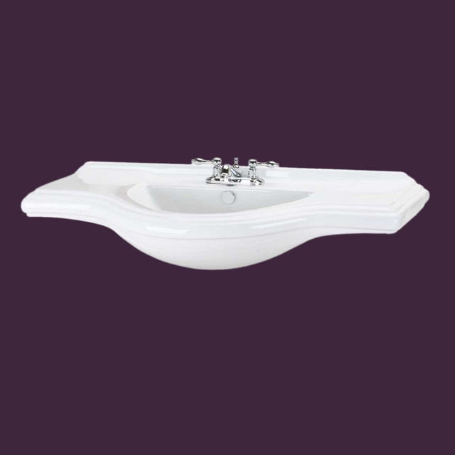 Extra Large Bathroom Sinks : ... White Extra Large Bay Wall Mount Sink ONLY contemporary-bathroom-sinks
