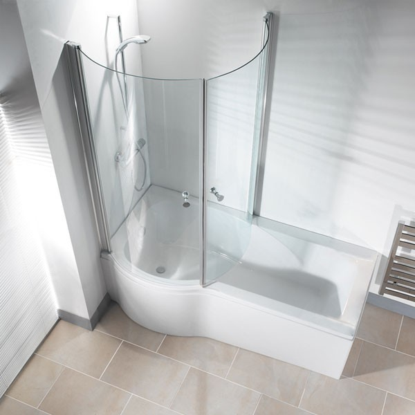 Small Bathroom Tub And Shower Combo: Galaxia Right Hand Standard Bath And Panel Premier